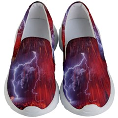 Fire Volcano Lightning Montain Wallpapers Kid s Lightweight Slip Ons by AnjaniArt