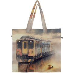 Manipulation Ghost Train Painting Canvas Travel Bag by AnjaniArt
