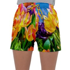 Festival Of Tulip Flowers Sleepwear Shorts by FunnyCow