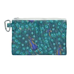 Peacocks Canvas Cosmetic Bag (large) by snowwhitegirl