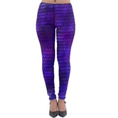 Purple Dragon Scales Lightweight Velour Leggings by bloomingvinedesign