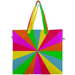 Neon Rainbow Burst Canvas Travel Bag by PodArtist