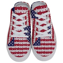 Usa Flag Halloween Holiday Nightmare Stripes Half Slippers by PodArtist