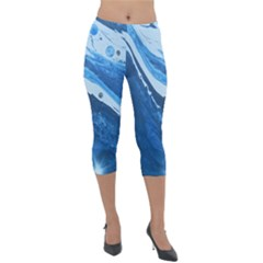 Star Maker Lightweight Velour Capri Leggings  by WILLBIRDWELL
