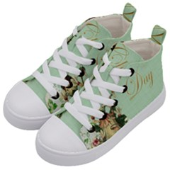 Christening 976872 1280 Kid s Mid Top Canvas Sneakers by vintage2030