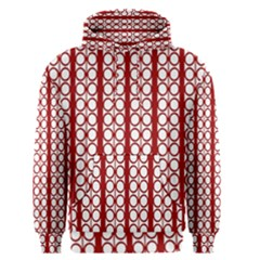 Circles Lines Red White Pattern Men s Pullover Hoodie
