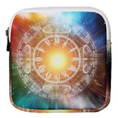 Universe Galaxy Sun Clock Time Mini Square Pouch