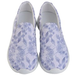 Blue Floral Men s Lightweight Slip Ons by snowwhitegirl