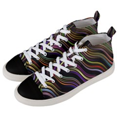 Psychedelic Background Wallpaper Men s Mid Top Canvas Sneakers by Samandel