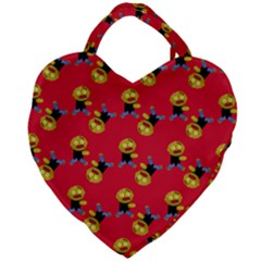 Golden Zombie Giant Heart Shaped Tote