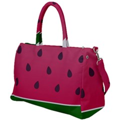 Watermelon Fruit Summer Red Fresh Duffel Travel Bag by Nexatart