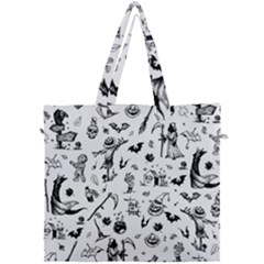 Halloween Pattern Canvas Travel Bag by Valentinaart