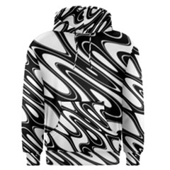 Black And White Wave Abstract Men s Pullover Hoodie