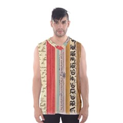 Digitally Created Collage Pattern Made Up Of Patterned Stripes Men s Basketball Tank Top by Jojostore