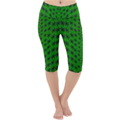 Forest Flowers In The Green Soft Ornate Nature Lightweight Velour Cropped Yoga Leggings