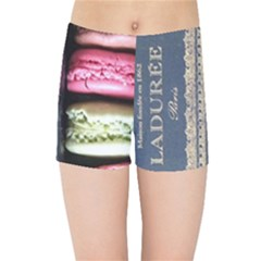 Laduree Macaron Paris Kids Sports Shorts by Bejoart