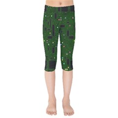 Board Conductors Circuits Kids  Capri Leggings  by Bejoart