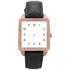 Rose Gold Leather Watch  Icon