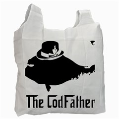 The Codfather Single Sided Reusable Shopping Bag by PatDaly718