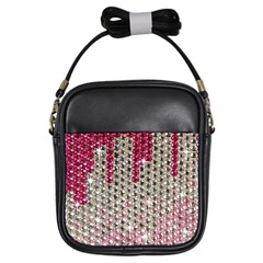 Mauve Gradient Rhinestones  Kids  Sling Bag by artattack4all