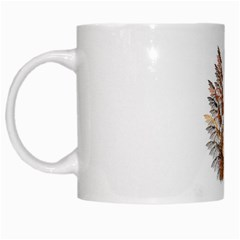 Brown Feather Wing White Coffee Mug by artattack4all