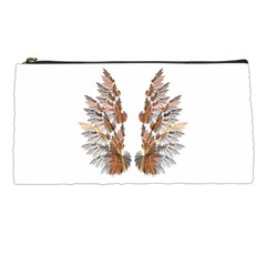 Brown Feather Wing Pencil Case by artattack4all