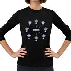Lick Network Women s Long Sleeve Dark T Shirt