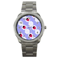Cake Top Blueberry Sport Metal Watch