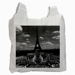 Vintage France Paris Fontain Chaillot Tour Eiffel 1970 Single Sided Reusable Shopping Bag by Vintagephotos