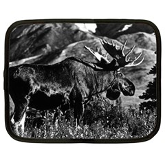 Vintage Usa Alaska Bull Moose 1970 15  Netbook Case