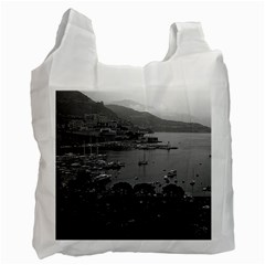 Vintage Principality Of Monaco The Port Of Monaco 1970 Single Sided Reusable Shopping Bag by Vintagephotos