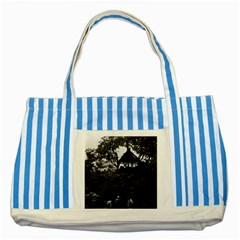 Vintage China Shanghai Yuyuan Garden 1970 Blue Striped Tote Bag by Vintagephotos