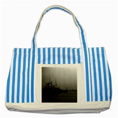 Vintage China Shanghai Port 1970 Blue Striped Tote Bag by Vintagephotos