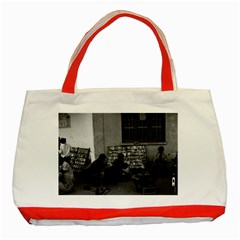 Vintage China Changsha Book Lending 1970 Red Tote Bag