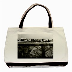 Vintage Germany Berlin Wall 1970 Black Tote Bag