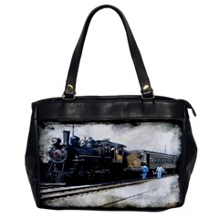 The Steam Train Single Sided Oversized Handbag by AkaBArt