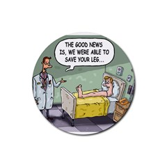 The Good News Is     Rubber Drinks Coaster (round) by mikestoons