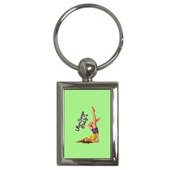 Pin Up Girl 4 Key Chain (rectangle) by UberSurgePinUps