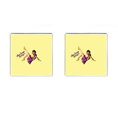 Pin Up Girl 1 Cufflinks (square) by UberSurgePinUps