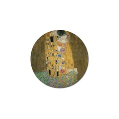 Klimt   The Kiss Golf Ball Marker by ArtMuseum