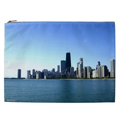Chicago Skyline Cosmetic Bag (XXL) by canvasngiftshop