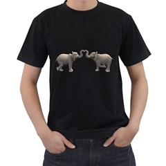 Elephant 4 Mens' Two Sided T Shirt (black) by gatterwe