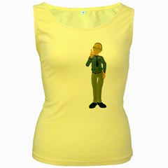 Grandpa 1 Womens  Tank Top (yellow) by gatterwe