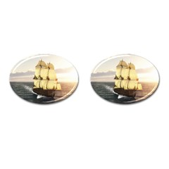 French Warship Cufflinks (oval) by gatterwe