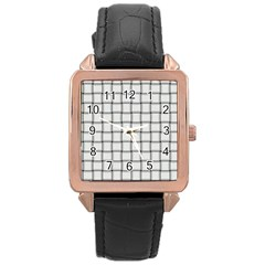 White Weave Rose Gold Leather Watch
