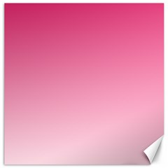 French Rose To Piggy Pink Gradient Canvas 16  X 16  (unframed) by BestCustomGiftsForYou