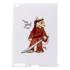 Samurai Cat Apple Ipad 3/4 Hardshell Case (compatible With Smart Cover)