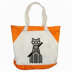 Ninja Cat Accent Tote Bag by cutepetshop