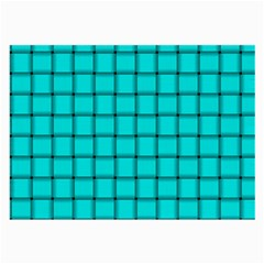 Cyan Weave Glasses Cloth (large) by BestCustomGiftsForYou