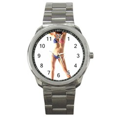 Usa Girl Sport Metal Watch by hlehnerer